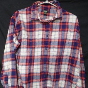 ROOTS, xs, extra small, plaid button front shirt